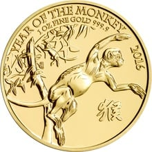 2016 Royal Mint 1oz Gold Year of the Monkey Gift Boxed