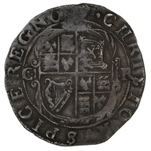 1633-4 Charles I Silver Hammered Sixpence - mm Portcullis