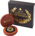 2013 Australian Gold Proof Sovereign Boxed