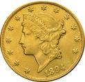 1894 $20 Double Eagle Liberty Head Gold Coin, San-Francisco