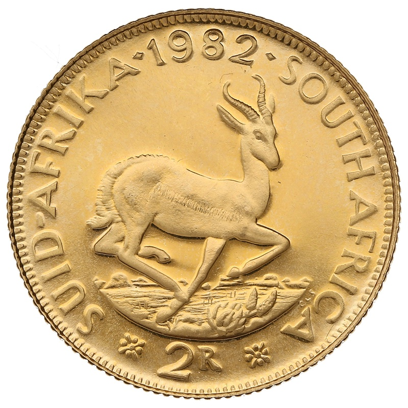 1982 2R 2 Rand coin South Africa