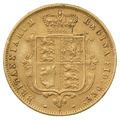 1875 Half Sovereign Victoria Young Head Shield Back - London