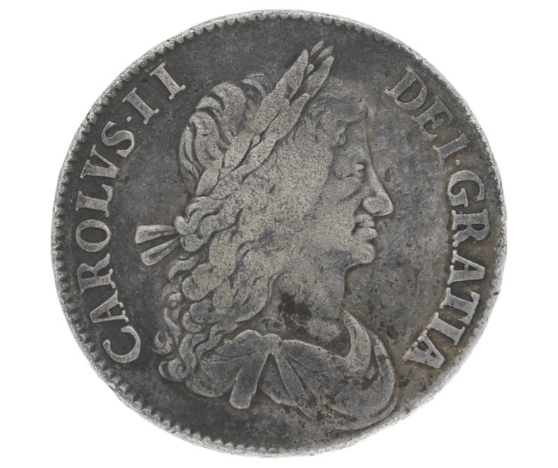 1663 Charles II Crown - Fine or better