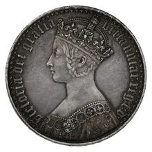 "1847 Queen Victoria Silver Milled ""Gothic"" Crown"