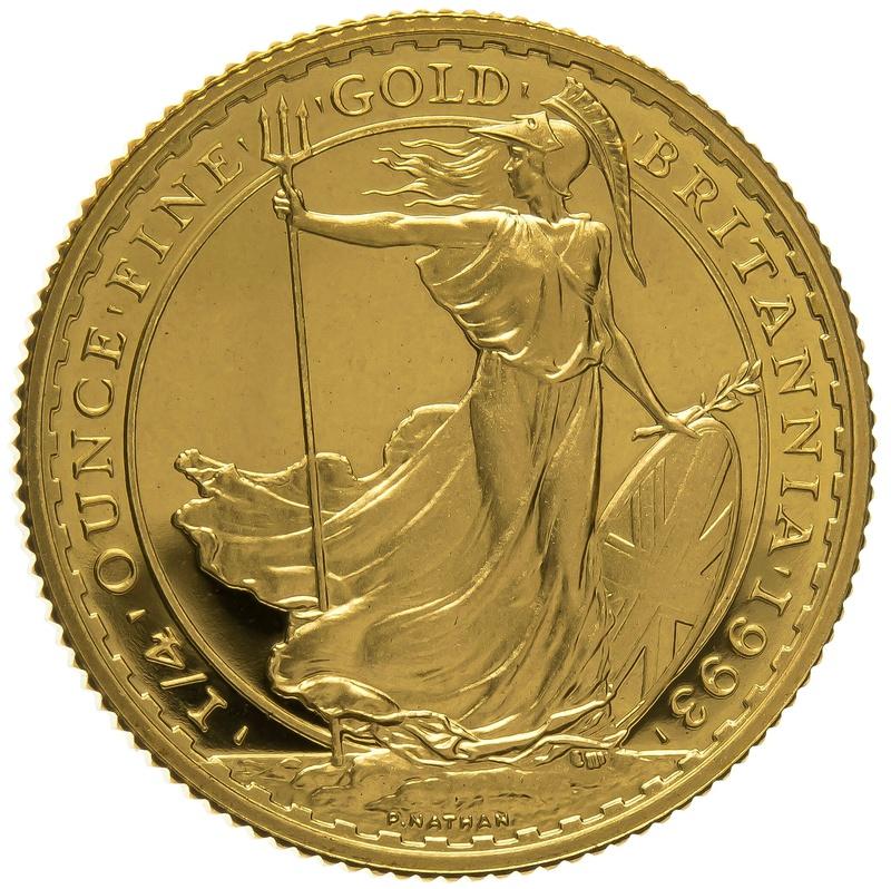 1993 Quarter Ounce Proof Britannia Gold Coin