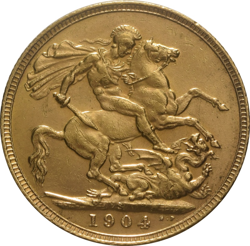 1904 Gold Sovereign - King Edward VII - S