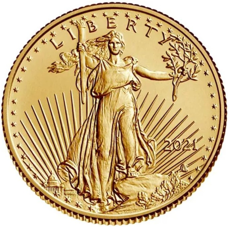 2021 Tenth Ounce American Eagle Gold Coin Type II