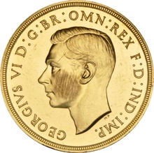 1937 Proof Double Sovereign George VI