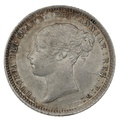 1871 Queen Victoria Silver Milled Sixpence Die 31