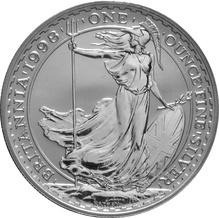 1998 1oz Silver Britannia Coin