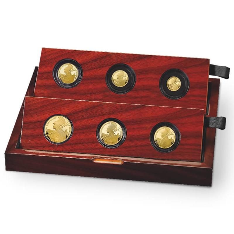 2015 Proof Britannia Gold 6-Coin Set Boxed