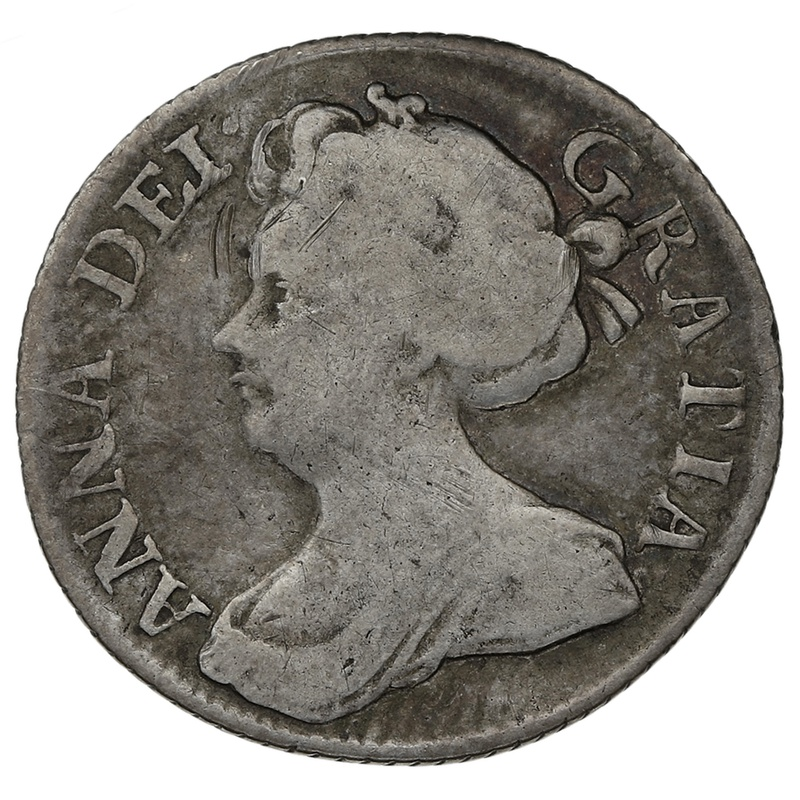 1711 Queen Anne Silver Sixpence - Good Very Fine