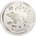 2019 1 Kilo Australian Lunar Year of the Pig Silver Coin