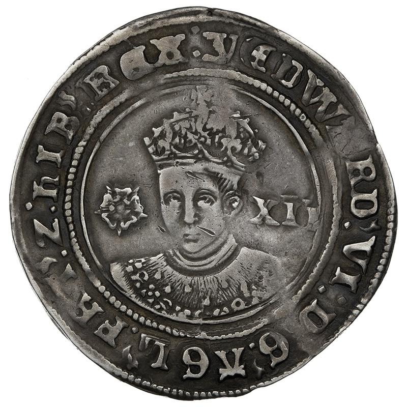 1551 Edward VI Silver Shilling mm Y