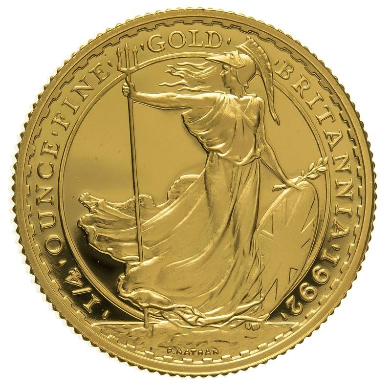 1992 Quarter Ounce Proof Britannia Gold Coin