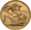 1976 Gold Sovereign - Elizabeth II Decimal Portrait