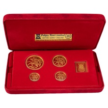 1979 Isle of Man Gold Proof Sovereign Four Coin Set Boxed