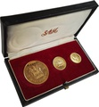 1966 Rhodesia Gold 3 coin set Boxed