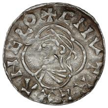 1016-1035 Cnut Hammered Silver Penny Quatrefoil type Gloucester Godric