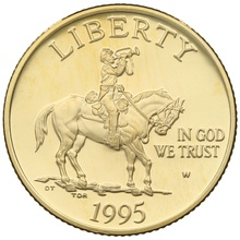 1995 Proof Civil War Battlefield - American Gold Commemorative $5