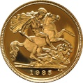 1985 Gold Half Sovereign Elizabeth II Third Head Proof