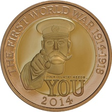 2014 £2 Two Pound Proof Gold Coin 100th Anniversary WWI Outbreak Boxed