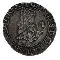 1638-9 Charles I Silver Hammered Sixpence - mm Anchor