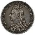 1890 Queen Victoria Silver Crown