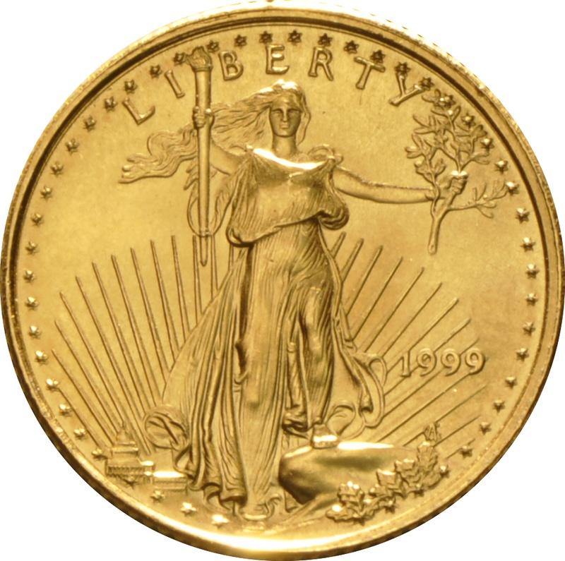 1999 Tenth Ounce Eagle Gold Coin