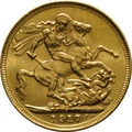 1917 Gold Sovereign - King George V - S