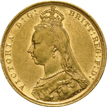 1893 Gold Sovereign - Victoria Jubilee Head - M