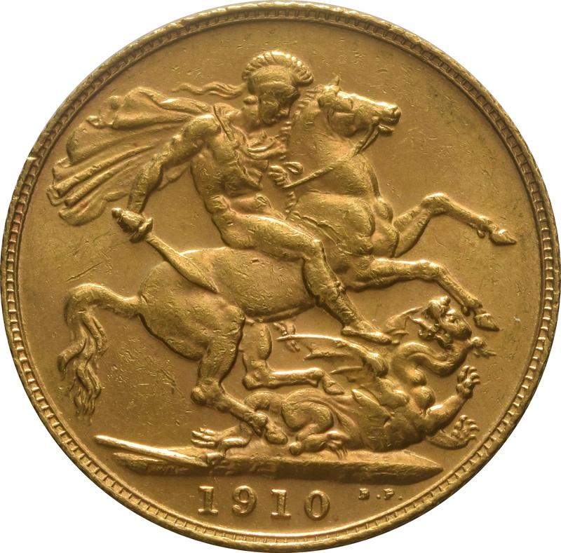 1910 Gold Sovereign - King Edward VII - London