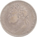 1822 George IV Silver Crown - Fine