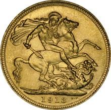 1913 Gold Sovereign - King George V - S