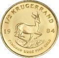 1984 Half Ounce Krugerrand Gold Coin
