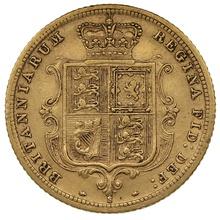 1883 Half Sovereign Victoria Young Head Shield Back - S
