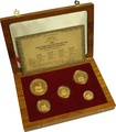 Krugerrand 1999 Centenary 5-Coin Gold proof Set (with Pond) Boxed