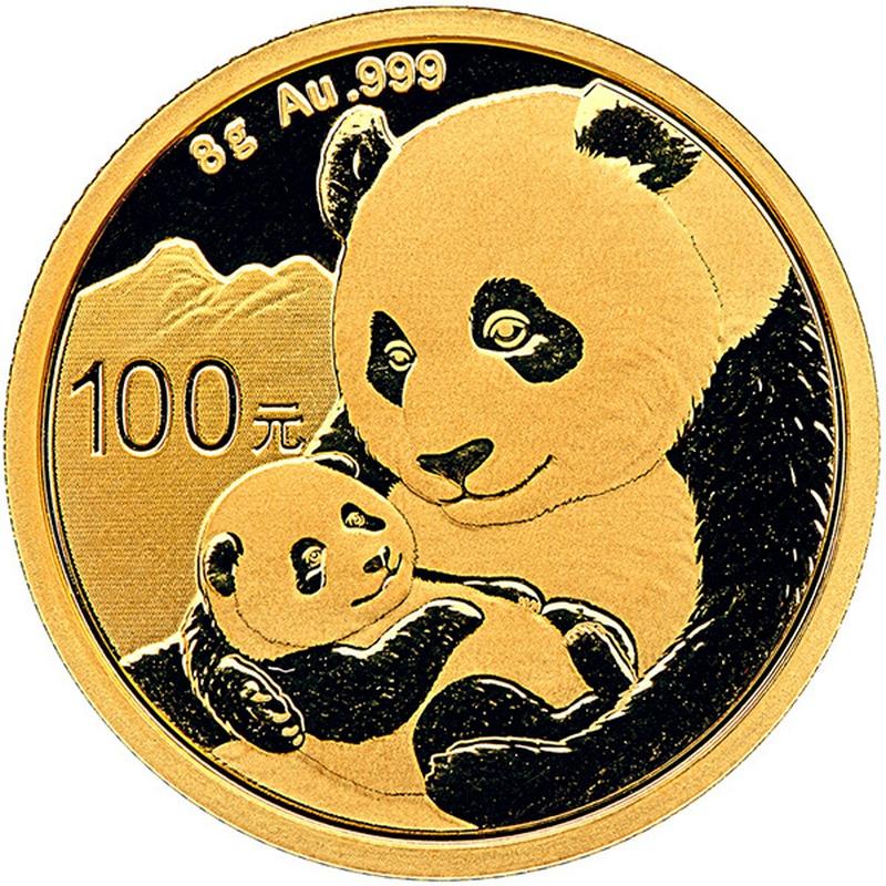 2019 8g Gold Chinese Panda Coin