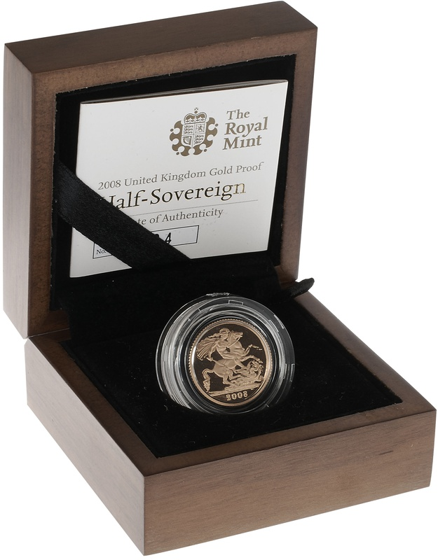 Gold Proof 2008 Half Sovereign Boxed