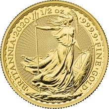 2020 Britannia Half Ounce Gold Coin