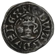 1344-51 Edward III Hammered Silver Halfpenny - Florin Coinage.