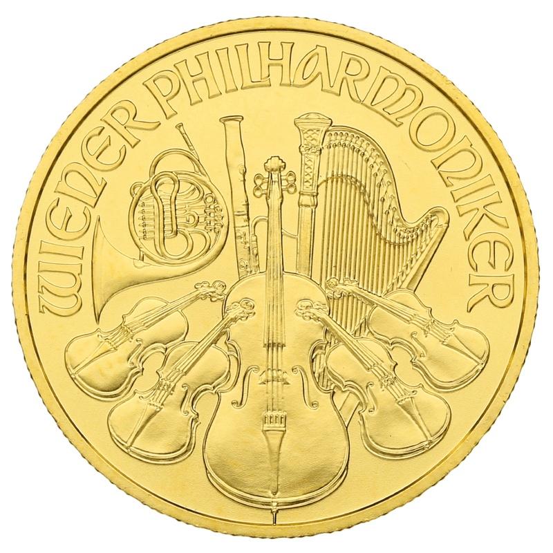 2020 Quarter Ounce Austrian Gold Philharmonic Coin
