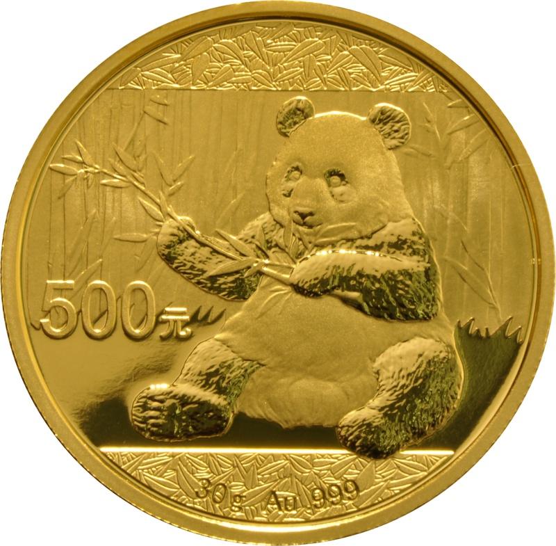 2017 30g Gold Chinese Panda Coin