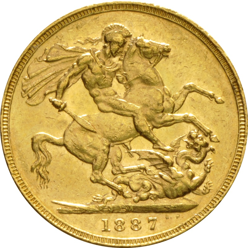 1887 Gold Sovereign - Victoria Jubilee Head - M