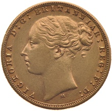 1868 Half Gold Sovereign