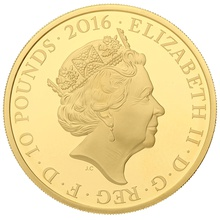 2016 - 5oz £10 Gold Proof Coin, The 100th Anniversary of the First World War Boxed