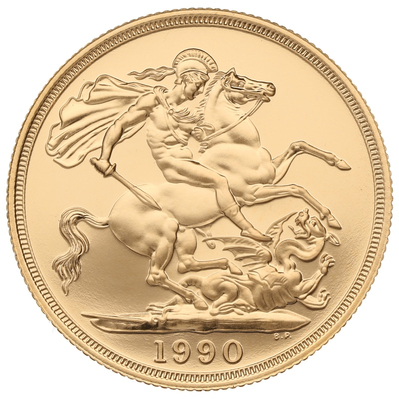 1990 £2 Two Pound Proof Gold Coin (Double Sovereign)