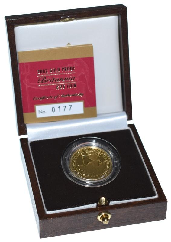 2002 Britannia Quarter Ounce Gold Proof Coin Boxed