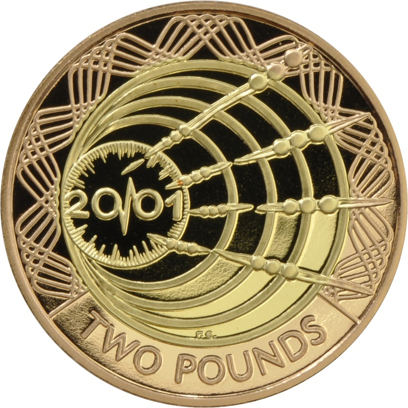 2001 £2 Two Pound Proof Gold Coin: Marconi