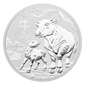 2021 1oz Perth Mint Year of the Ox Silver Coin